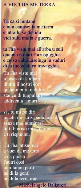 Translations Into Italian: Sicilian Poetry Michelangelo Balistreri